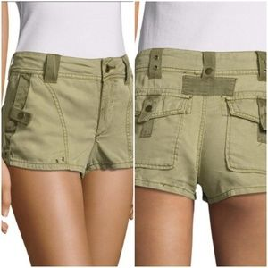 Free People olive military style moss shorts sz 2